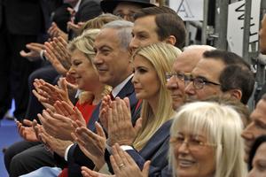 La cérémonie d'inauguration de l'ambassade américaine à Jérusalem avec notamment le premier ministre israélien Benyamin Nétanyahou et la fille de Donald Trump, Ivanka Trump.