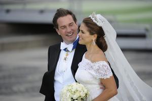 Madeleine de Suède et Christopher O'Neill lors de leur mariage en 2013.