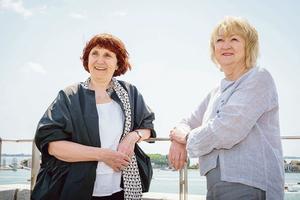 Les deux commissaires irlandaises, Shelley McNamara (à gauche) et Yvonne Farrell.