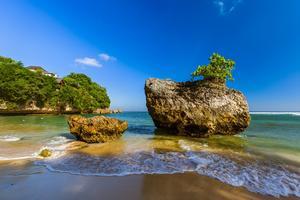 Padang Padang Beach, Bali   Indonésie