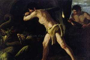 Hercule combat l'hydre de Lerne / Rue des archives