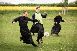 France: les séminaristes de Flavigny-sur-Ozerain, en Côte-d'Or.