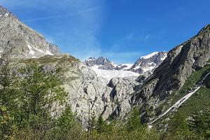 Le glacier Blanc, vu du Pré de Madame Carle