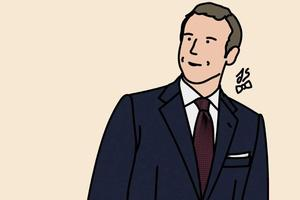 Emmanuel Macron et ses lacets rouges