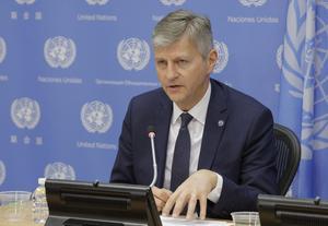 Jean-Pierre Lacroix aux Nations unies à New York, en mai 2017.