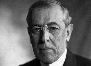 Thomas Woodrow Wilson, 28e Président américain (1856-1924).