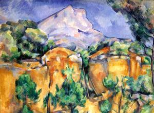 Vue de la montagne Sainte-Victoire, par Paul Cézanne.