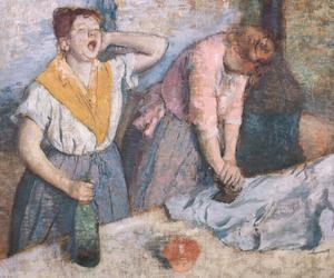 «Les repasseuses» d'Edgar Degas vers 1884. Musée d'Orsay.
