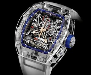 Richard Mille fut l'un des premiers horlogers à imaginer des boitiers entièrement taillés dans du saphir.