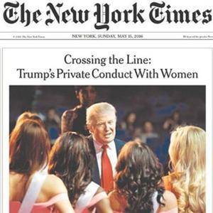 La Une du New York Times du 15 mai 2016.
