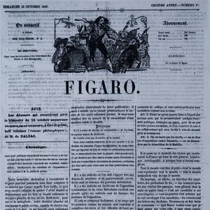 Une du Figaro du 15 octobre 1837.