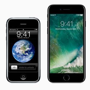 Les iPhone Edge et iPhone 7 Plus.