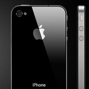 Le dos en verre de l'iPhone 4.