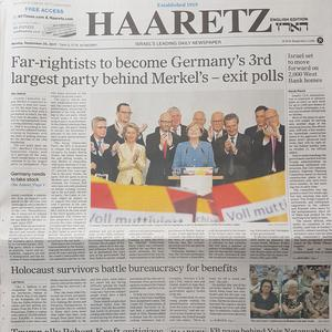 La une de Haaretz.