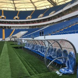 Un abri de touche «made in France» dans le stade de Rostov.