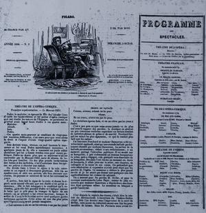 Une du Figaro du 2 octobre 1836.