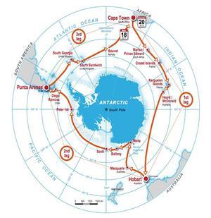 Le parcours autour du pôle Sud va durer trois mois.