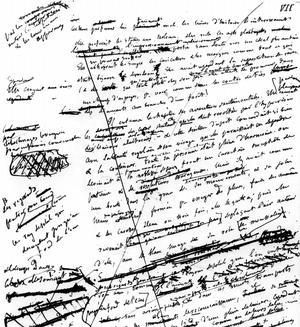 Manuscrit de «L'Éducation sentimentale» de Gustave Flaubert, roman paru en novembre 1869.