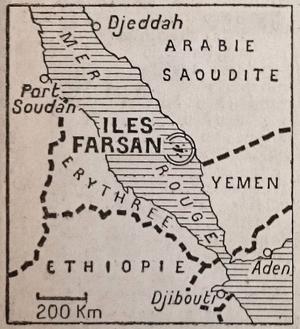 Carte situant le lieu de la mission océanographique, publiée dans Le Figaro du 4 février 1952.