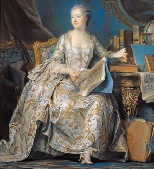 Jeanne-Antoinette Poisson (1721-1764), maîtresse et conseillière de Louis XV, connue sous le titre de marquise de Pompadour.