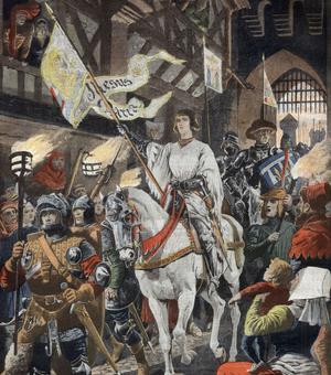 L'entrée de Jeanne d'Arc à Orléans le 29 avril 1429.