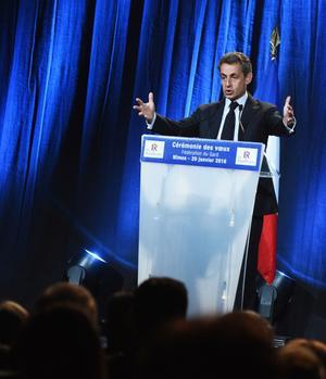«Partout où je vais, les salles sont pleines», se félicite l'ancien président, ici à Nîmes, le 20 janvier dernier.