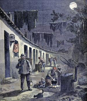Les chiffonniers à Paris, illustration parue dans «Le Petit Journal» en 1892.