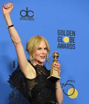 Pour la série «Big Little Lies», Nicole Kidman a été couronnée meilleure actrice.