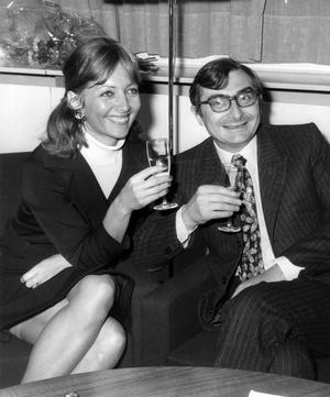 Stéphane Audran et Claude Chabrol au Festival de Berlin en 1968.