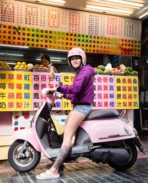 Les vélos cèdent la place aux scooters...