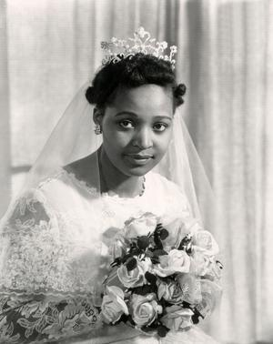 Winnie Mandela, le jour de son mariage, le 14 juin 1958.