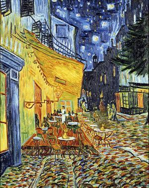 «Terrasse du café le soir» de Van Gogh , septembre 1888.