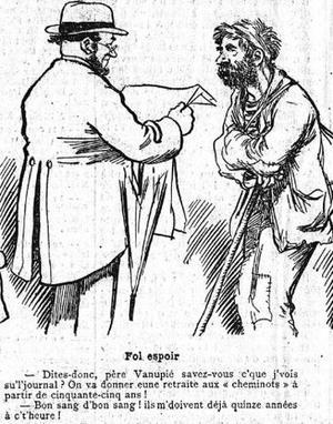 Illustration parue dans «Le Figaro» du 25 juin 1909.