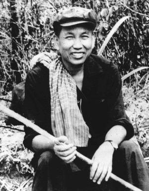 Pol Pot dans la jungle cambodgienne le 22 juin 1979.
