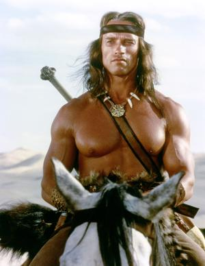 Arnold Schwarzenegger dans «Conan le Barbare».