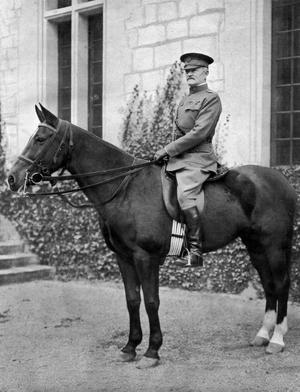 Le General John Pershing (1860-1948) commandant americain en Europe durant la Première Guerre mondiale.