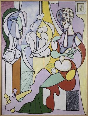 <i>LeSculpteur</i>, dePabloPicasso (1931), exposé à Rouen dansle cadre de la Saison consacrée aumaître.