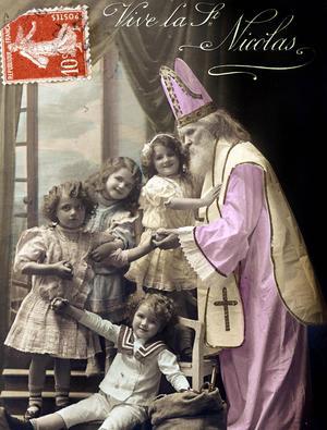 Saint Nicolas protège les petits enfants: il apporte des jouets et des friandises.