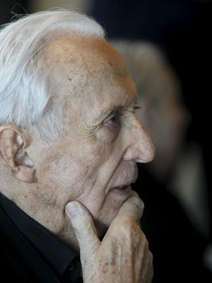 Pierre Soulages. Photo Jean-Christophe MARMARA/ Le Figaro.