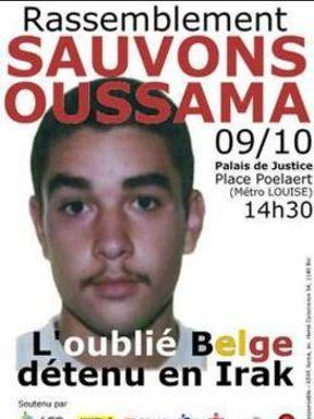 Affiche diffusée en 2010 par les soutiens d'Oussama Atar pour organiser un rassemblement en 2010.