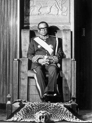 Mobutu Sese Seko le 5 décembre 1984, à Kinshasa.