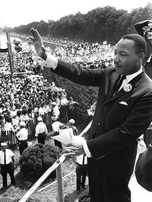 Martin Luther King, le 28 août 1963, à Washington.