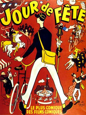 Affiche d'après René Perron pour le film «Jour de Fête» de Jacques Tati, 1949.