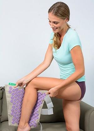 Le set de jambes Champs de Fleurs soulage les membres inférieurs.