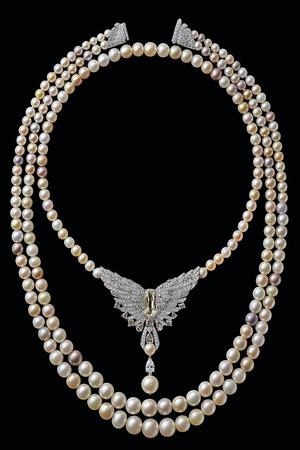 Collier de perles fines créé en 2016 en hommage à l'acquisition de l'immeuble par Cartier. (Archives Cartier)
