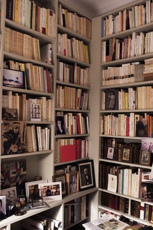 Pour lui, «une bibliothèque est comme une biographie».