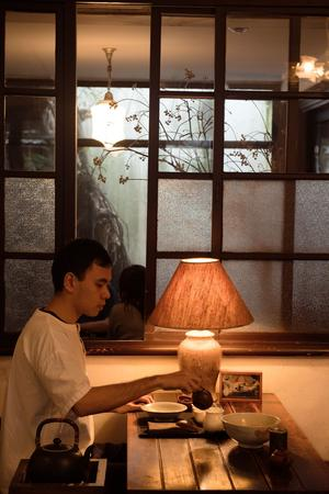 Le célèbre salon de thé Wistaria Tea House.