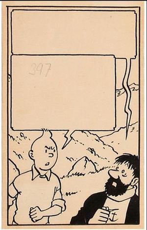 Vignette extraite de <i>Tintin et le Temple du soleil.</i>