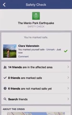 Un exemple de page de sécurité généré par Facebook .