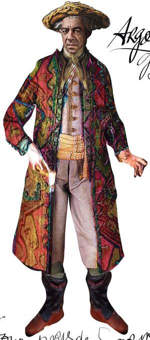 Croquis du costume d'Argante par Christian Lacroix.
